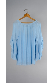 CROSS DYED SYMPHONY SLEEVE BLOUSE