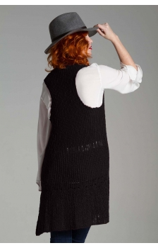 TEXTURED SLUB RACER BACK VEST
