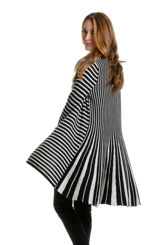 Striped Fan Back Cardigan