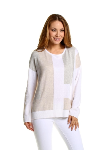 Color Blocked Pullover