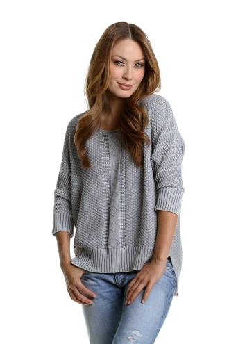 Stone Washed Dolman Pullover