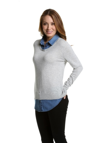 Knit and Chambray Twofer