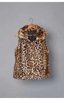 Plush Leopard Fur Vest