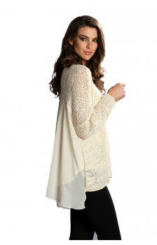 LONG SLEEVE WOVEN MIXED WITH CAMI
