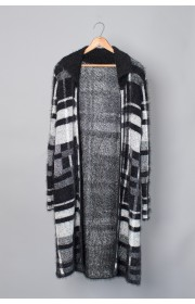 CLASSIC PLAID SWEATER COAT WITH LUREX